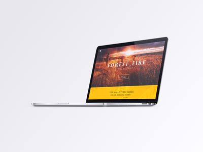 Forest Fire uidesign web-ui web site webdesign themes wp ui design fire forest blog uiux wordpresss