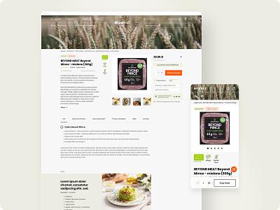 Organic market - e-Commerce graphic design design ecommerce website web ui ux