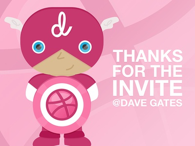 Captain Dribbble - Thanks, Dave Gates!