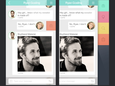 Messenger app design ios messenger app flat chat mobile ui user interface