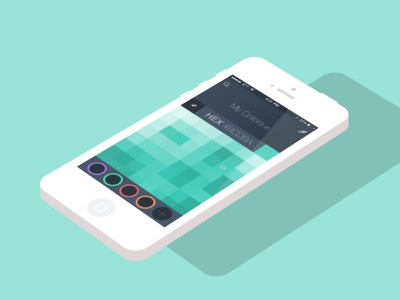 PSD - Color Picker color picker eyedropper flat ui ios app user interface free psd