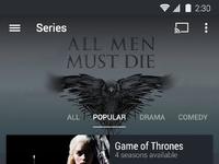 Series screen