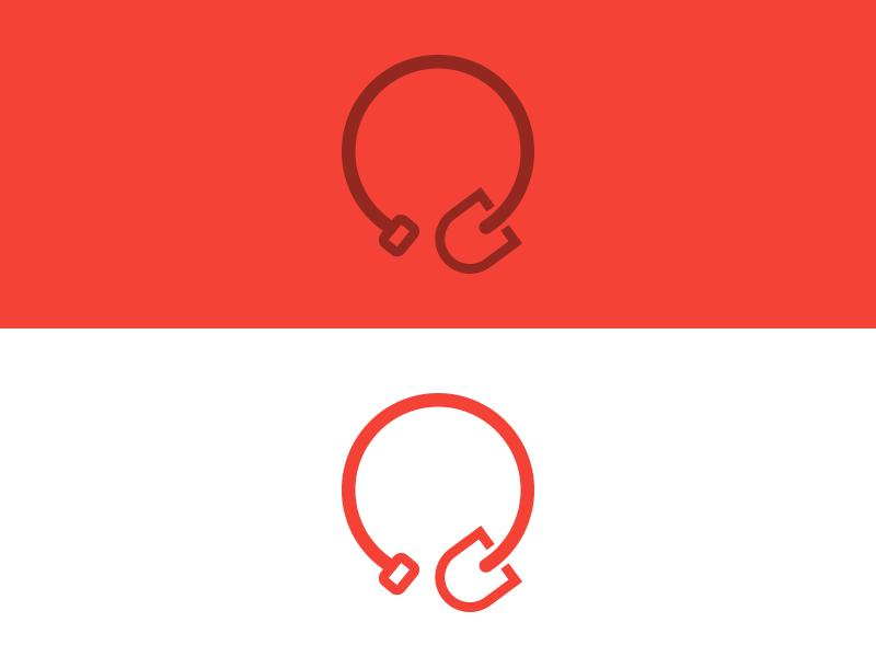 it's a shovel. shovel icon design circle fun logo minimalistic simple