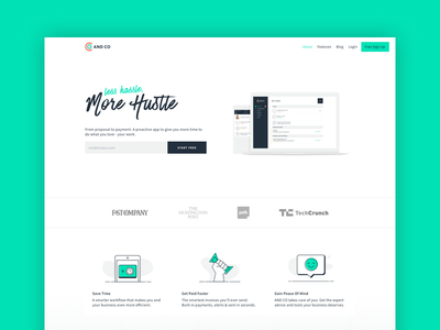 AND CO - New Site! freelance hustle website