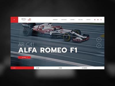 Alfa Romeo Racing F1 Orlen intervi interactive vision principle video speed racing race motorsport slides landingpage antonio giovinazzi movie slider website robert kubica f1 formula one formula1 alfa romeo