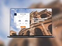 """KAYAK"" Travel platform redesign - Main slider"