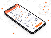 """KAYAK"" Travel platform -  Mobile app app travel hotels search business orange sorting voyage vacation trip scrolling kayak travel platform adventure airplane flight flights filter 7ninjas"