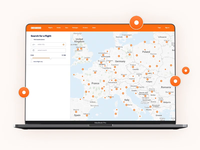 """KAYAK"" Travel platform redesign - Map / Search tool search filters flying voyage travelling accomodation airnbnb booking skyskanner kayak business travel vacation pin planning plane aircraft flights map 7ninjas"