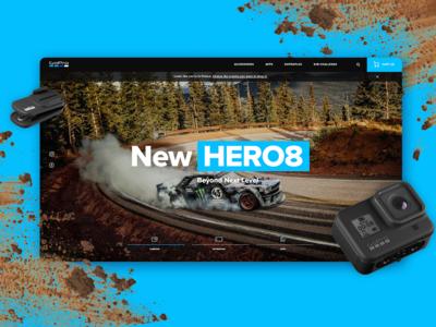 GoPRO HERO 8 homepage concept