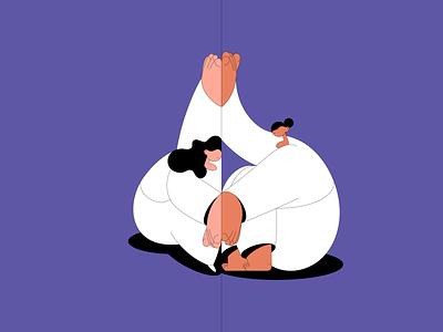 Longing design flat design vector art distance touch longing love women characters illustrator vector illustration digital illustration art illustration