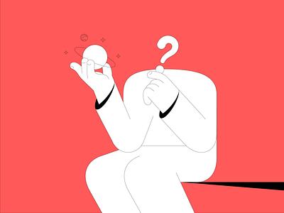 ? question thinking think design vector flat design illustrator illustration