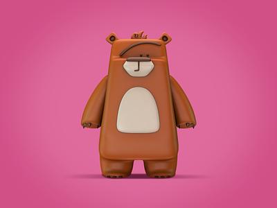 Bear 3D bear 3d character design 3d character 3dmodeling 3d model c4dart c4d 3d art 3d