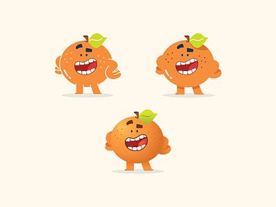 Orange Mascot smile fruit mascot orange character design flat design illustrator vector illustration