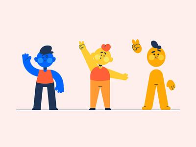 Mascot designs character illustration smile colourful illusrrator mascot characters cute illustration