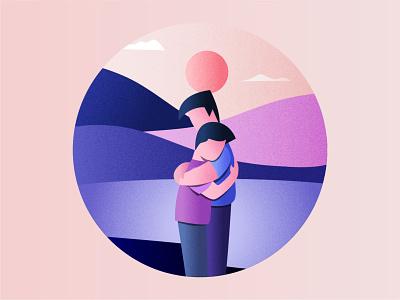Embrace embrace hug texture equality lgbt adobe illustrator illustration