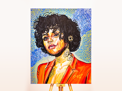 Kehlani Portrait Painting paint portrait art print design oil on canvas design illustration art illustrator drawing illustration canvas print canvas art oil paint painting