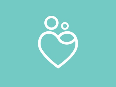 New Beginnings Homes (final) heart mother and child mother child baby mother and baby hope embrace icon logo new new beginning