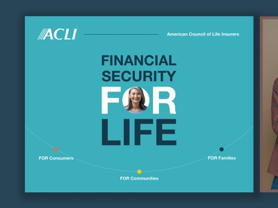 2020 ACLI Annual Report corporate insurance design art direction layout washington dc annual report