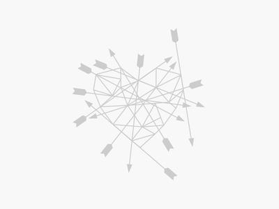 arrows / heart / concept