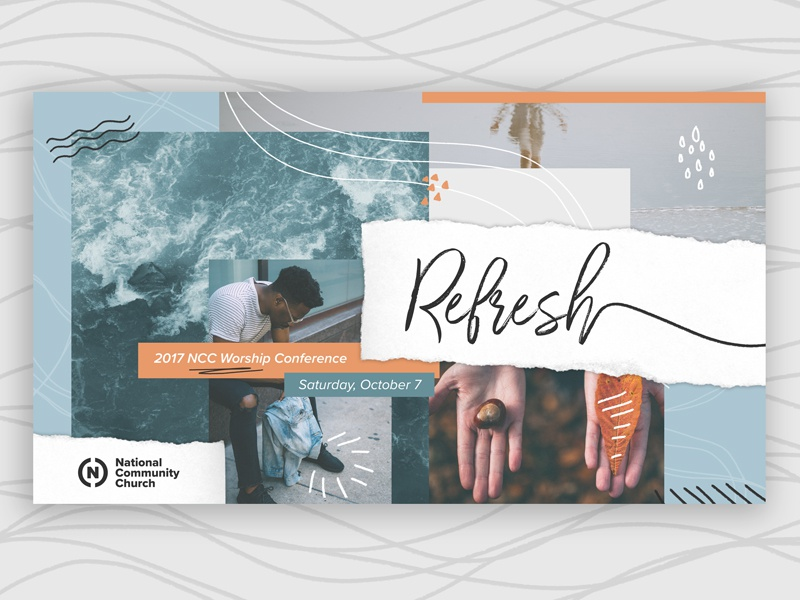 Refresh collage branding conference fall fresh wave water refreshed concept refresh