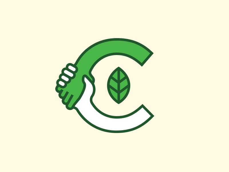 Community branding renewal renew caring community care c logomark concept logo