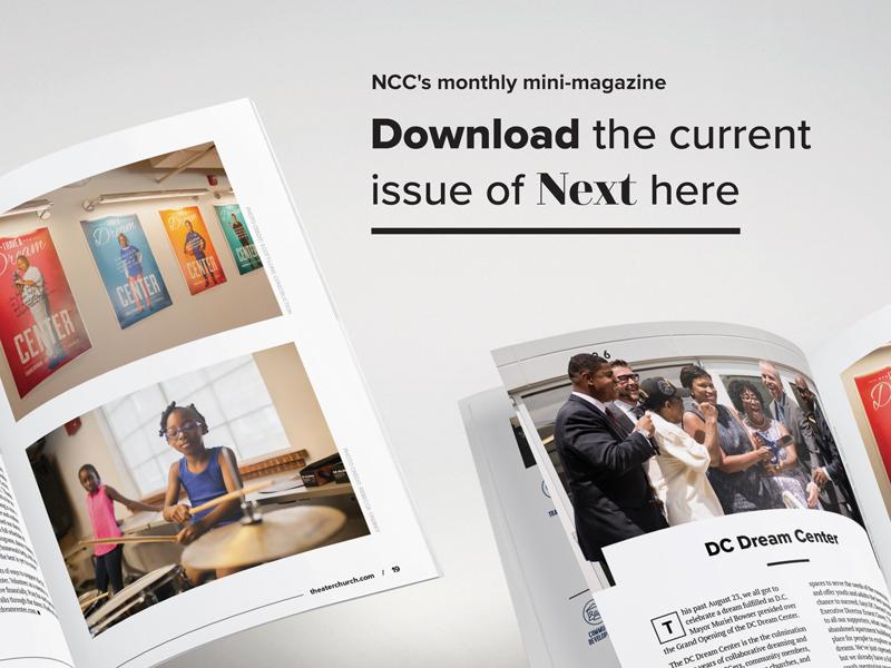 NEXT church washington dc communications design layout magazine editorial