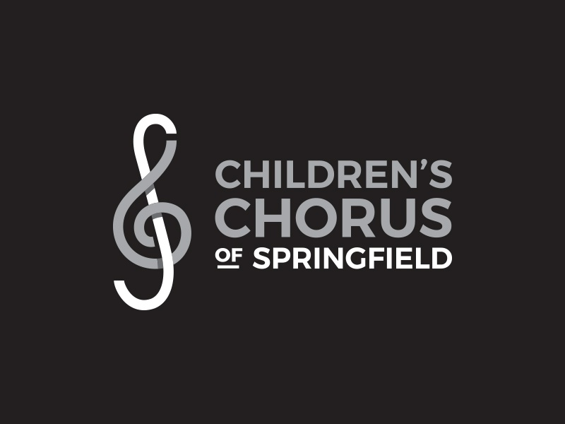 Children's Chorus of Springfield brand branding concept logomark children chorus treble clef choir music logo