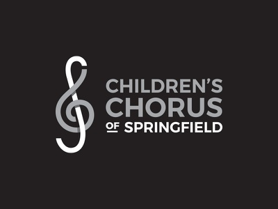 Children's Chorus of Springfield brand branding concept logomark children chorus treble clef choir music logo