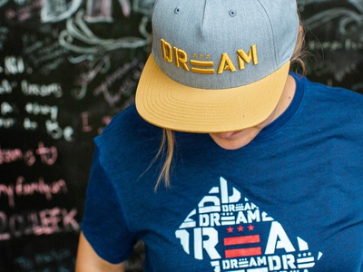 DREAM dc logo dc 3d embroidery dream center dream washington dc tshirt shirt hat apparel
