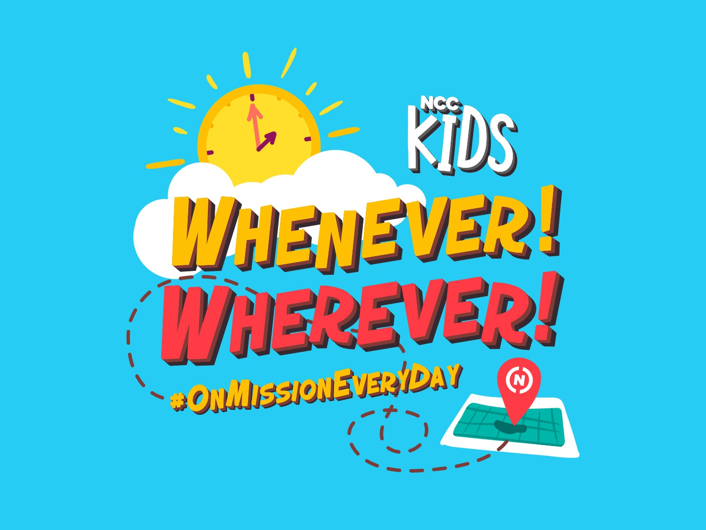 On Mission Every Day church on mission mission kids art clock sun map kids