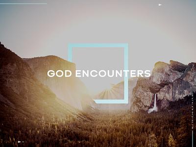 God Encounters natural sky encounters church sermon series god mountains nature design
