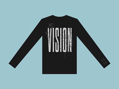 VISION line art apparel mockup 2020 vision shirt apparel