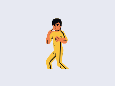 Bruce Lee drawing minimal vector simple flat illustration icon sport karate martial arts mma bruce lee