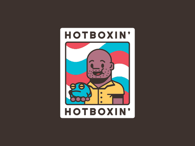 Hotboxin' brand simple flat cartoon illustration boxing boxer frog toad tyson mike tyson