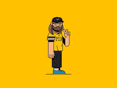 Rapper illustrator draw illustrate musician music band boy man pirates shoes flat illustration nike rap