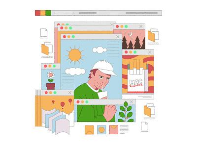 DeMarco illustrator website internet forest plant laptop computer illustration editorial music