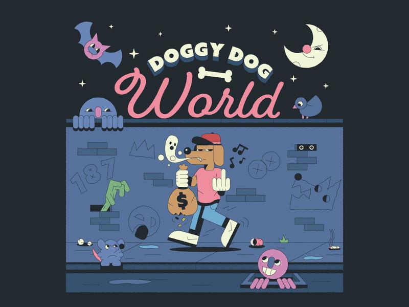 Doggy Dog music album moons snoop dogg snoop cartoon illustrator illustration