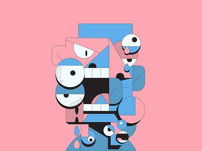Loathing mentalhealth emotion hate loathing illustrator illustration art abstract illustration