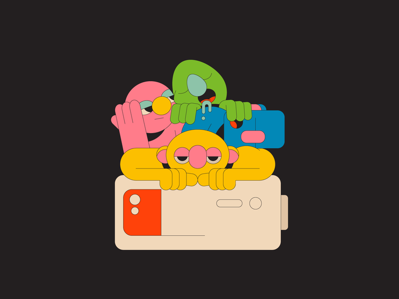 Tired illustration illustrator rest colour charge phone battery sesame muppets characters bored sleep tired