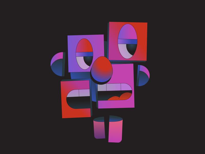 Disassociate art illustration illustrator self feeling emotion mental health abstract