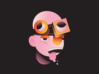 Milkshake illustration illustrator abstract gradient character mad crazy