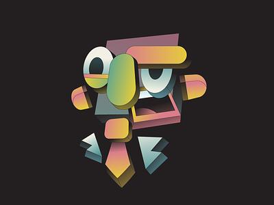 Boss 3d isometric chunks boss person abstract illustrator illustration