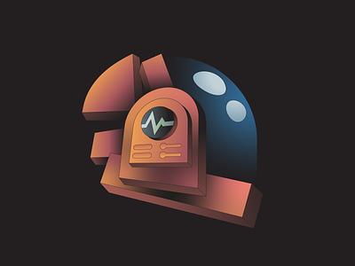 Guy illustration abstract deconstruct helment music dj daft punk