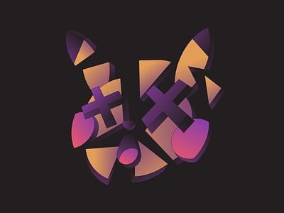 Fainted broken break abstract illustration nintendo videogame gaming pikachu pokemon