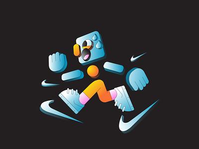 Running running run illustration abstract