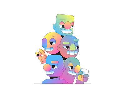 Cool Guys puppet lego sesame street cool character character design illustrator illustration