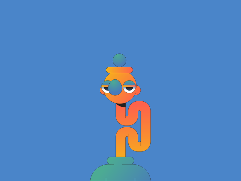 Orange illustration illustrator gradient character characterdesign