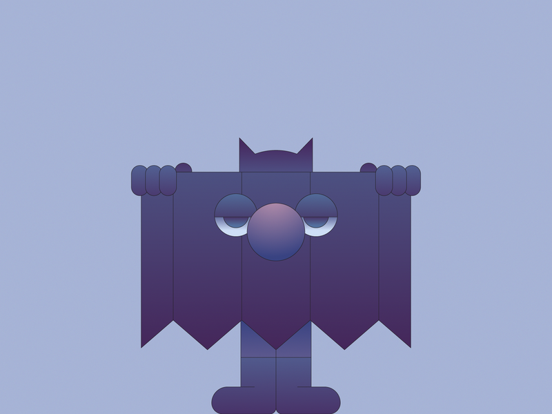 Bat gradient illustrator illustration batman