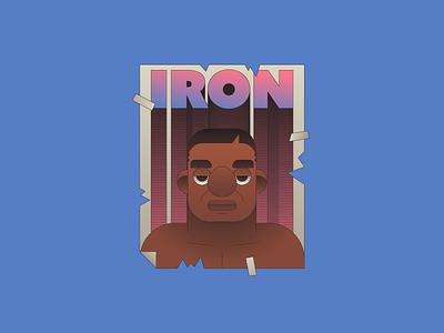 Iron Mike gradient characterdesign character illustration illustrator sticker boxing