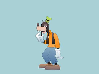 Goof gradient minimal character illustration illustrator disneyland mickey minnie goofy disney